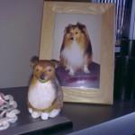 lerfigur shetland sheepdog