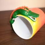 grön krokodil