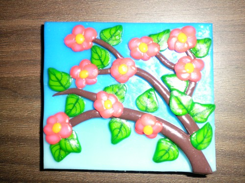 blommande gren