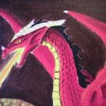 detalj av drakhuvudet